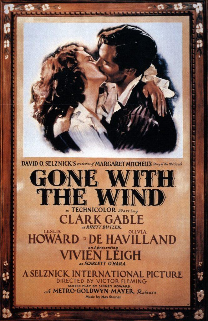 Il poster originale di Via col vento